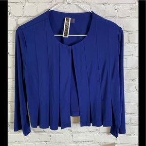 Julian Taylor Royal Blue Cropped Jacket Top Size 6